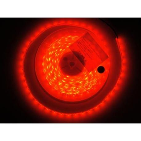 Taśma 300 LED 3528 IP65 czerwona 5m