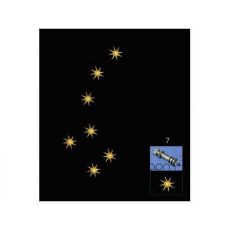 MAŁY WÓZ - kryształowe gwiazdy 7 sztuk A.20009