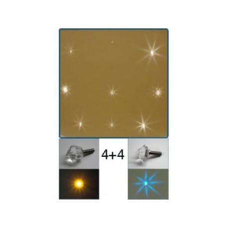 VENUS - kryształowe gwiazdy 8 sztuk A.20001
