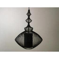 LAMPA AŻUROWA WISZĄCA BLACK 38x55cm