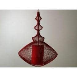 LAMPA AŻUROWA WISZĄCA RED 38x55cm